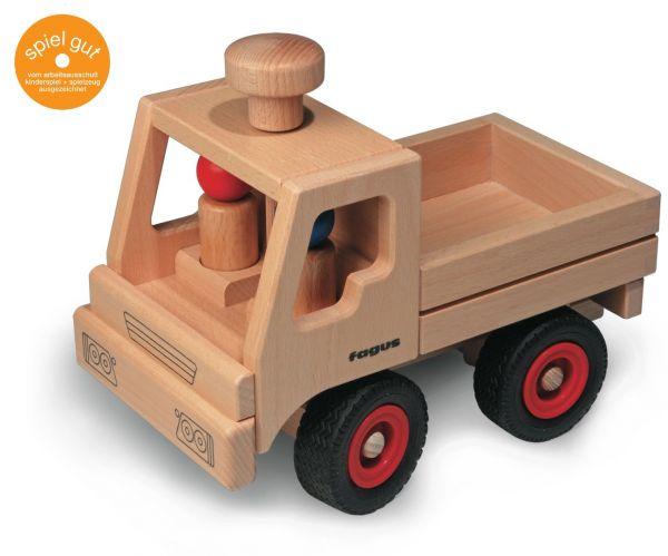 fagus, Holz Fahrzeug Unimog lenkbar, Gummireifen, Buche