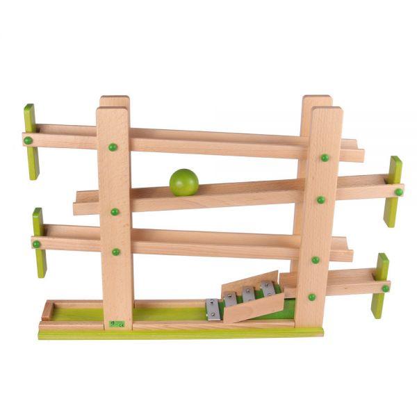 Beck Holzspielzeug Holz Klappen Kugelbahn, ab 1,5 Jahren.