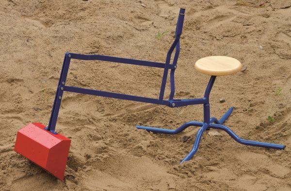 Sandbagger mit Fuß und Holzsitz von der Dorfgemeinschaft Lautenbach