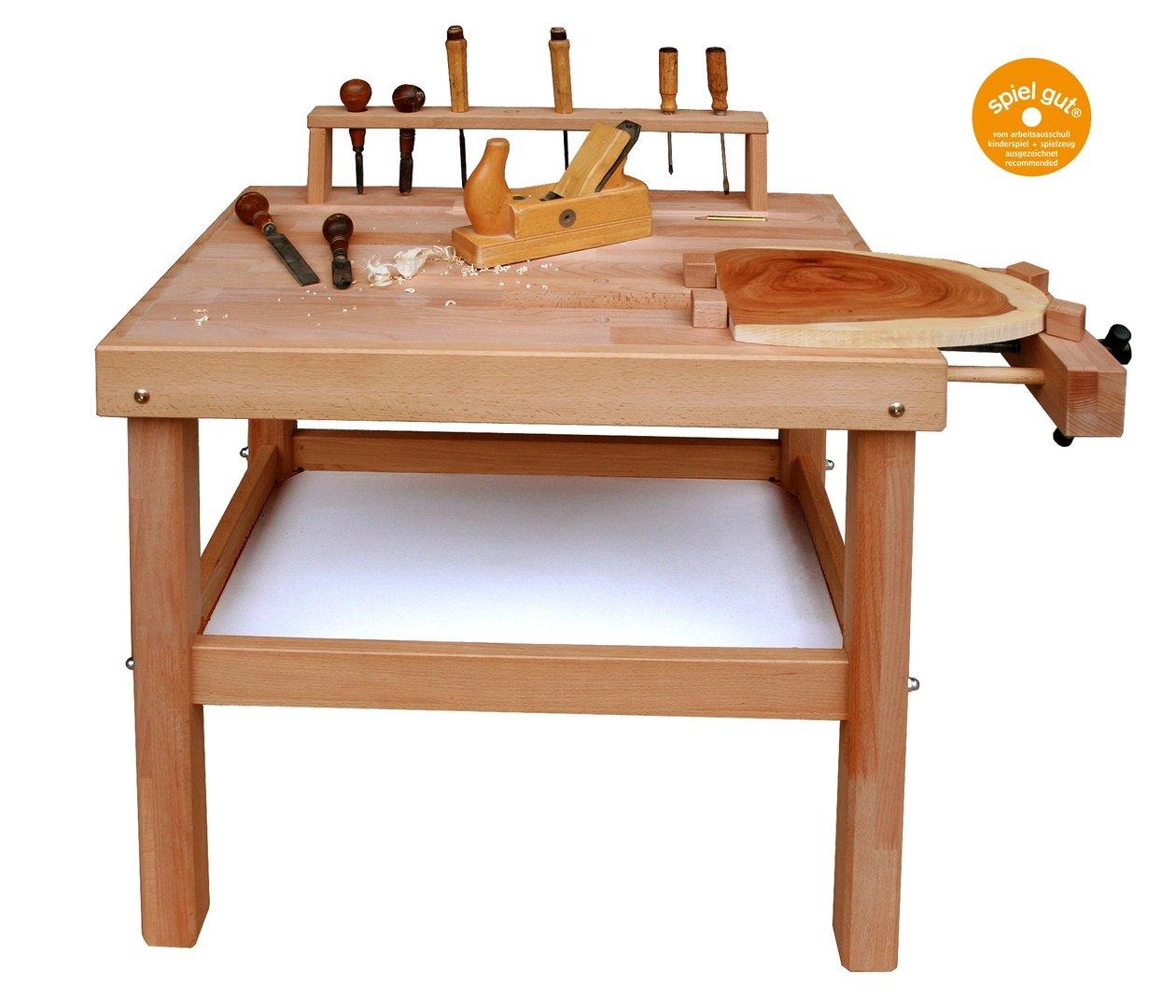 Schöllner Werkbank für Kinder aus Holz, ab 5 Jahren ...