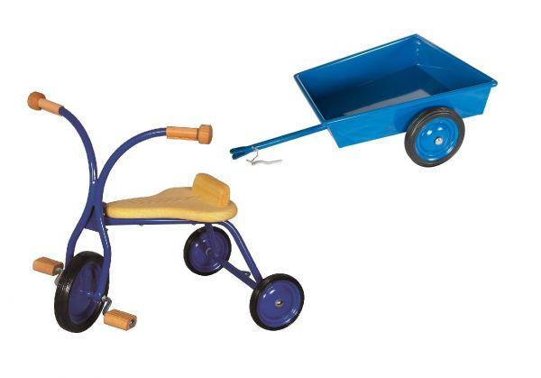 Lautenbach Dreirad mit Anhänger, Höhe 27 cm