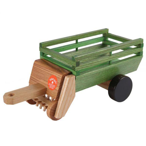 Heu-Ladewagen, Esche naturlackiert, Beck Holzspielzeug.