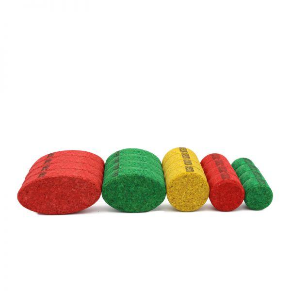 KORXX 20 runde, farbige Korkbausteine Kuller Mix C
