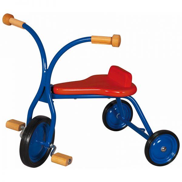 Dreirad 27 cm Sitzhöhe, Holzsitz massiv, rot, Lautenbach