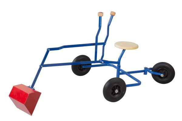 Metall Sandkastenbagger mit Rädern und Holzsitz Lautenbach