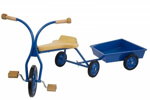 Set Dreirad / Anhänger, 32 cm Sitzhöhe, Holzsitz natur,Lautenbach