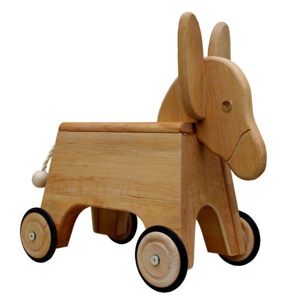 Stubenflitzer Esel, Erlenholz, Schöllner Holzspielzeug.