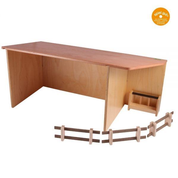 Geräteschuppen, Birkensperrholz, naturlackiert, von Beck Holzspielzeug.