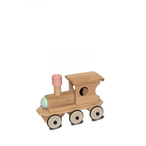 Dynamiko Holzlokomotive Dampflok Lotte bunt