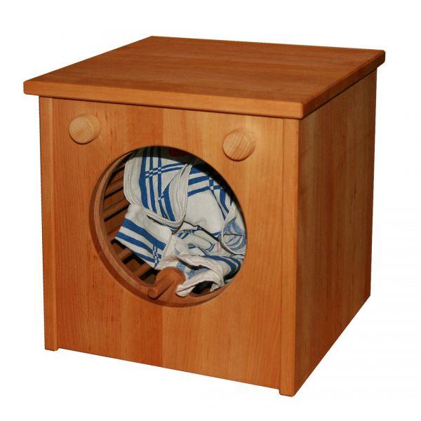 Waschmaschine Kinderküche, Erlenholz massiv von Schöllner Holzspielzeug.