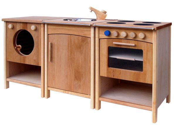 Hochwertige Spielküche aus Erlenholz