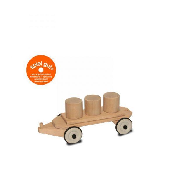 Dynamiko Holzzug Lotte lenkbarer Anhänger Tonnen
