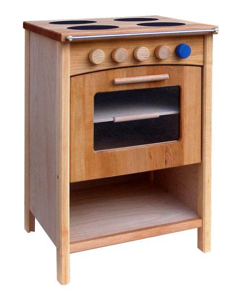 Kinderherd mit 4 Kochplatten, Backblech, Ablagefach und 5 Drehregler