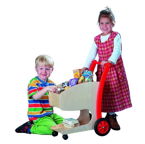Einkaufswagen Holz, Bätz Holzspielwaren.
