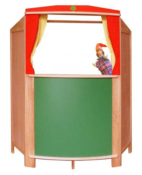 Schöllner Kasperletheater Holz mit Tafel