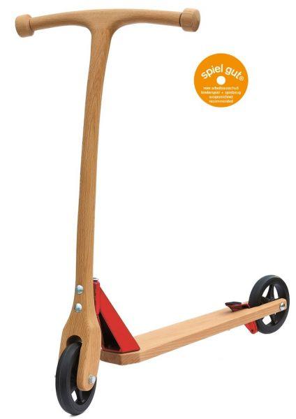 Lautenbach, Holzroller mit Bremse, rot, spiel gut, ab 3